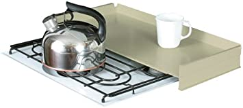 Amazon Com Camco Rv Stove Top Cover Universal Fit Add Extra Counter Space To Your Camper Or Rv Almond 43559 Automotive