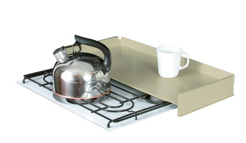 Almond Stove (Camco RV Stove Top Cover, Universal Fit, Add Extra Counter Space To Your Camper Or RV (Almond))