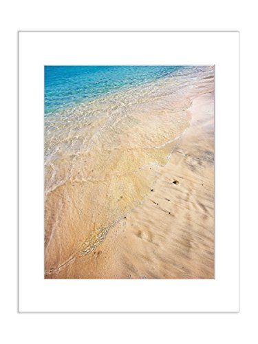 Beach Photography 8x10 Matted Print Tropical Sand Coastal Shoreline Water Picture by Catch A Star Fine Art Photography