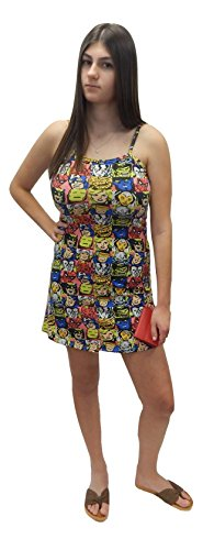 Marvel Comic Dress (Marvel Comics The Avengers Juniors Thin-Strap T-Shirt Dress with Adjustable Straps)