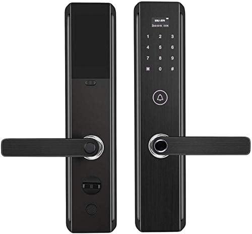 指紋南京錠、電子スマートバイオメトリック指紋指紋南京錠、家/商業/アパート/地区向けのWiFiアプリドアベル、木製ドア、金属ドア、防火ドア、金属に適しています