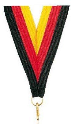 10 Medaillenbänder 22 mm breit//80 cm lang  mit Haken