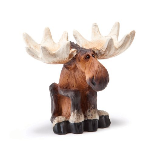 Sitting Moose Mini Figurine by Unknown (Big Sky Carvers Moose)