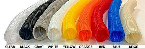 Electriduct 1'' Split Wire Loom Tubing Polyethylene Flexible Conduit - Orange - 100 Feet by Electriduct (Image #2)
