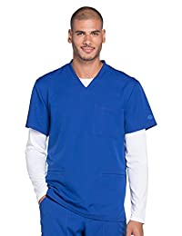 Dickies Dynamix Men's Connected V-Neck Solid Scrub Top