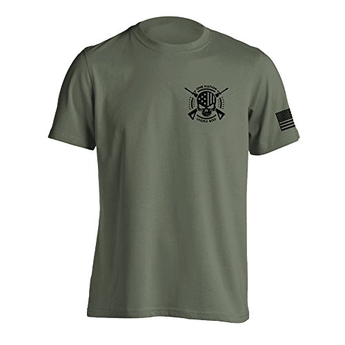 - One Nation Under God Military T-Shirt Small Military Green