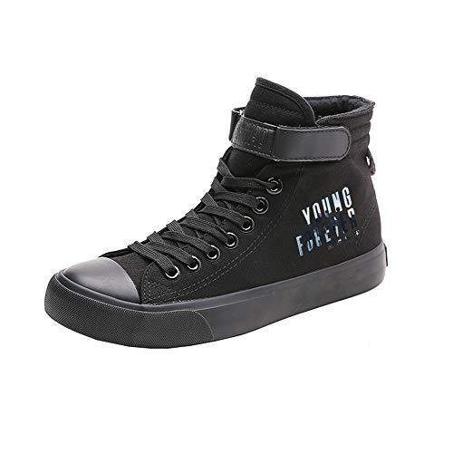 Transpirables Ocasionales Zapatos Lazada Spring Ayuda Black02 Bts Lona De Caballero Alta w0Ex0q