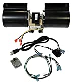 VICOOL GFK-160 GFK-160A Fireplace Blower Kit for Heat N Glo, Hearth and Home, Quadra Fire, Lennox, Superior, Regency, Royal, Jakel, Nordica, Rotom