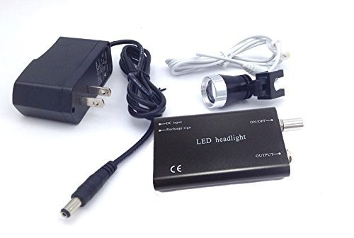 Zgood Portable 3W Dental LED Headlight Head Light Lamp for Surgical Loupes Glasses US Stock (Black) by ZGood (Image #4)