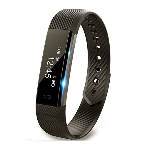 Fitness Tracker,Smart Bluetooth Wristband Pedometer, Bluetooth Sleep Monitor , Camera Remote Smart Bracelet Waterproof Activity tracker with Step Distance for Android and IOS