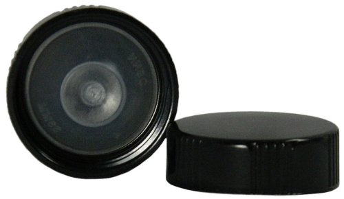 (Qorpak CAP-00204 Black Phenolic Cap with PolyCone Liner, Ribbed Style, 33-400 Neck Finish (Case of 2200))