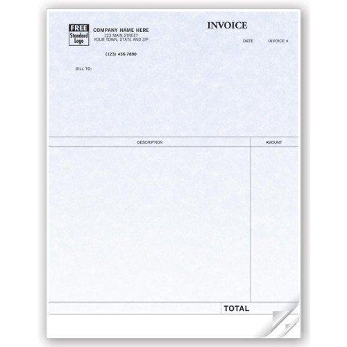 Professional Laser Invoice for QuickBooks - Parchment by PrintEZ