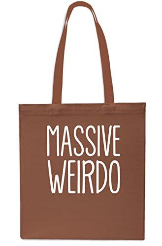 Massive Weirdo Tote Shopping Gym Beach Bag 42cm x38cm, 10 litrest-Small-Black Chestnut