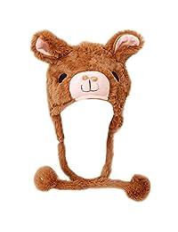 TopTie Halloween Animal Cosplay Hat with Ear Flap, Furry Animal Hood Cap
