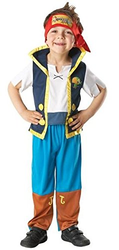 Official Licensed Disney Girls Boys Izzy or Jake and The Neverland Pirates Book Day Halloween Fancy Dress Costume Outfit (3-4 Years, Jake)