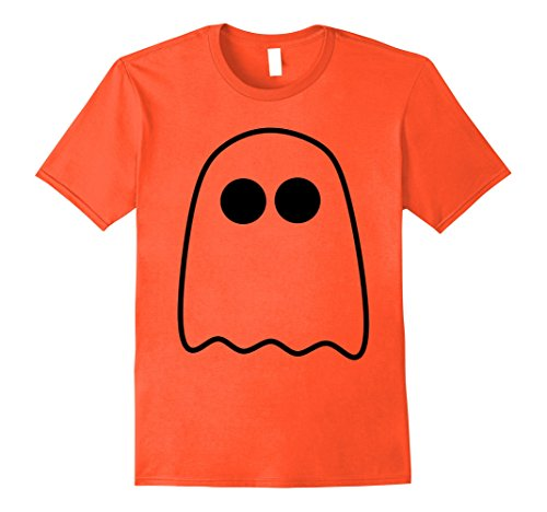 [Mens Halloween Boo Scary Ghost Simple Easy Costume Fun T-Shirt Large Orange] (Simple Halloween Costumes Scary)