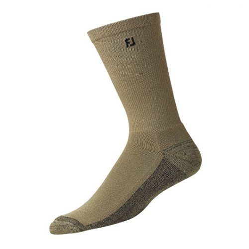 New 2018 FootJoy ProDry Men's Socks - With Breathable Comfort Mesh - Choose Your Style & Color (Crew (New Oatmeal)