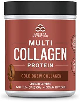 Ancient Nutrition Multi Collagen Protein Powder, Cold Brew, Formulated by Dr. Josh Axe, Hydrolyzed Collagen Supplement, Supports Joints, Hair, Skin and Nails, Made Without Dairy or Gluten, 17.6oz…
