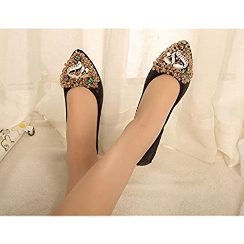 durable service Women's Fox Rhinestone Comfort Soft Ballet