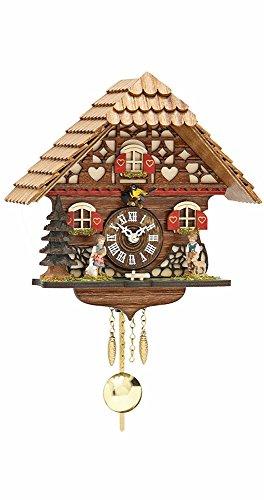 MusicBoxAttic Kuckulino Black Forest Chalet Style Clock with Quartz Movement
