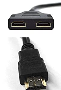 2 Way HDMI Splitter Cable. HDMI Male to 2 HDMI Female. Connect 2 HD Devices. from Q4Tech