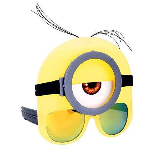 [Minion Goggles Stuart Costume Glasses Sunstaches (Stuart Minion Goggle)] (Halloween Goggles)