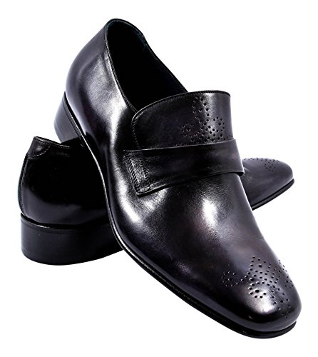 berluti-black-leather-brouge-loafers-shoes-size-8