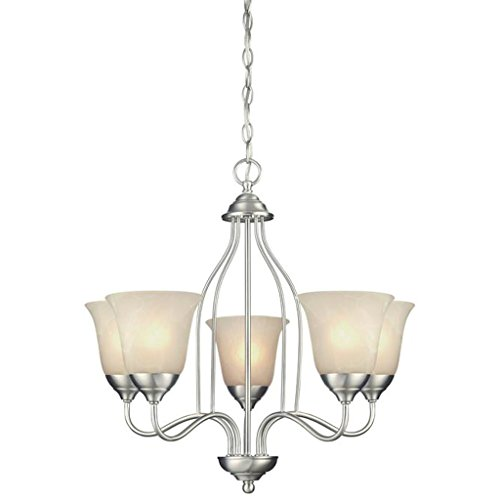Westinghouse Satin Chandelier - Westinghouse 62268 - 5 Light (Medium Screw Base) 23