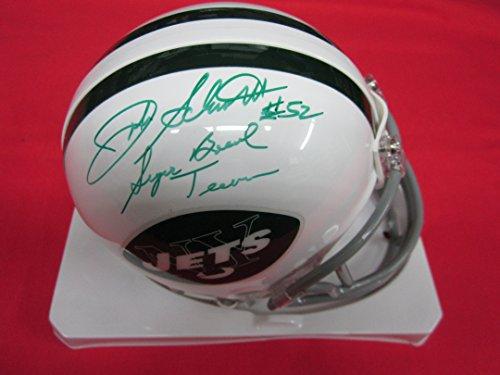 John Schmitt New York Jets (New York Jets JOHN SCHMITT Autographed Signed Mini Helmet w/COA and INSCRIPTION!)