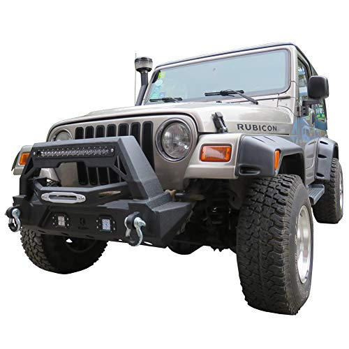 Vijay Jeep Front and Rear Bumper With 1 120W LED Long Light and 6 LED Lights For 87-06 Jeep Wrangler TJ/YJ&Unlimited by Vijay (Image #4)
