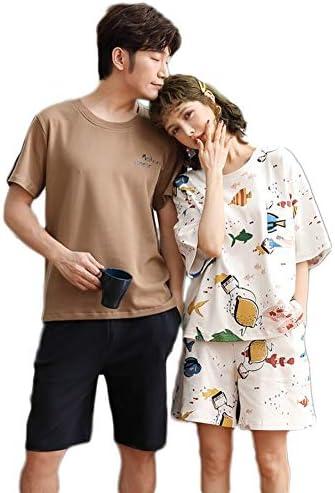 ジュタオピン ペア パジャマ カップル メンズ 上下 セット レディース 部屋着 トップス ショートパンツ 夏 ルームウェア おしゃれ 半袖 かわいい 寝巻き 白 カーキ
