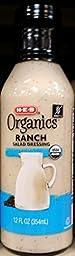 HEB Organics Ranch Dressing 12 Oz (Pack of 2)