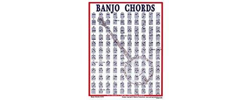 Walrus Productions Mini Laminated Chart, Banjo