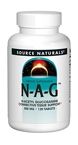 N-acetyl Glucosamine - Source Naturals N-A-G N-Acetyl Glucosamine 500mg Supplement - 120 Tablets