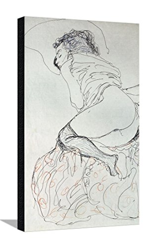 Female Nude, Turned to the Left, 1912-13 Stretched Canvas Print by Gustav Klimt - 18 x 28.5 in