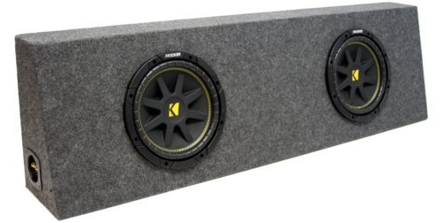 ASC Package Dual 10″ Kicker Sub Box Regular Cab Truck Subwoofer Enclosure C10 Comp 600 Watts Peak