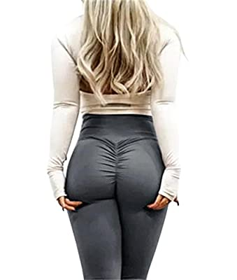 Imily Bela Womens Tummy Control Ruched Booty Yoga Pants Depot Workout Stretchy Leggings