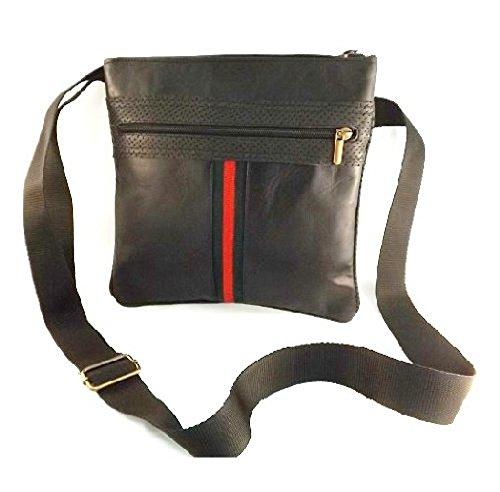 Borsello messenger in pelle -Vero Artigianato italiano -L26XH27 XP3 cm MOD : 916 black