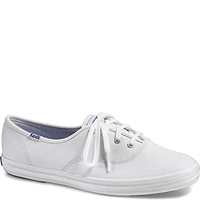 Keds Womens Champion Original Leather Sneaker, White Leather, 5 N US