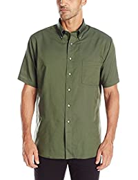 Men's Regular-Fit Oxford Short-Sleeve Button Down-Collar...