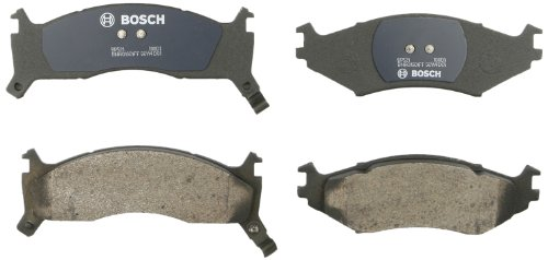 Bosch BP521 QuietCast Premium Semi-Metallic Disc Brake Pad Set For Select Chrysler Dynasty, Imperial, LeBaron, Town & Country; Dodge Caravan, Daytona, Shadow, Spirit; Plymouth Breeze + More; Front