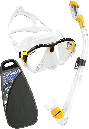 Cressi Lince & Supernova Dry, clear/yellow