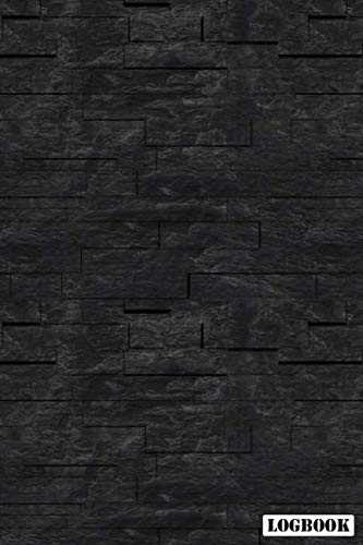 Logbook: Black Slate Brick 2019 Calendar Organizer Planner For Contractor Builder & Maintenance ()