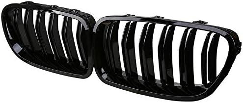 rejilla de 2 aletas serie 5 520i 520d 525d 525i 530d 535i 550i 1 juego GSRECY Parachoques delantero diamante negro brillante para Sedan F10 F11 F18 2010-2016