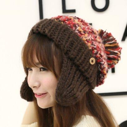 Dealzip Inc Fashion and Lovely Earmuffs Ear Pattern Women Lady Winter Knitting Beanie Crochet Casual Ball Hat - Fair Fahion