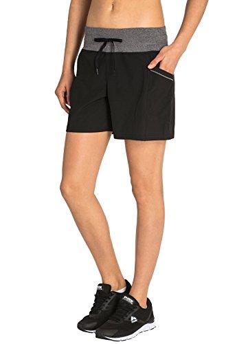 RBX Active Women's Stretch Woven Short w/Knit Waist Black M