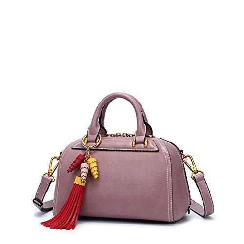 Baachang Borla Bolso De Casual White Pink Boston Hombro Con color UxTwUXrP