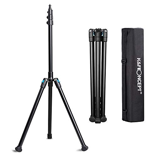 K&F Concept 78.75' Aluminium Photography/Video Tripod Light Stands for Relfectors, Softboxes, Lights, Umbrellas, Backgrounds