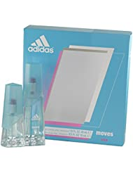 Adidas Moves for Women Gift Set (Eau De Toliette Spray 1.0 ounce Plus Eau De Toilette Spray 0.5 ounce)