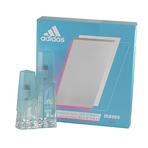 Adidas Moves for Women Gift Set (Eau De Toliette Spray 1.0 ounce Plus Eau De Toilette Spray 0.5 ounce) by adidas